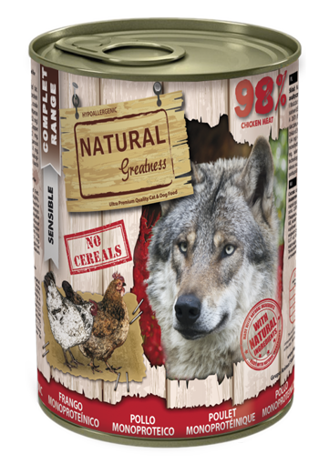 Imagem de NATURAL GREATNESS | Wet Complet Sensible Chicken Monoprotein 400 g