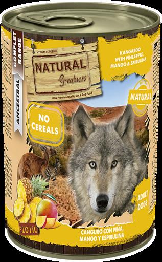 Imagem de NATURAL GREATNESS   Kangaroo & Pineapple with Mango & Spirulina 400 g