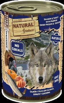 Imagem de NATURAL GREATNESS | Salmon & Turkey with Pumpkin, Sweet Potato & Ginger 400 g