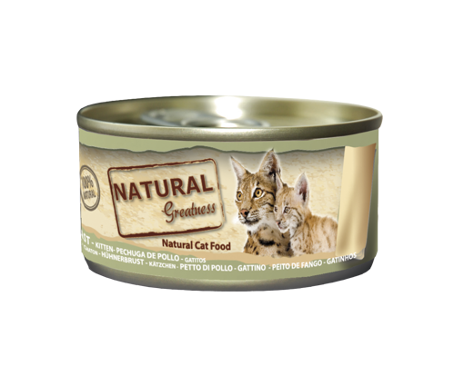 Imagem de NATURAL GREATNESS | Wetfood Cat Chicken Breast - Cat & Kitten 70 g