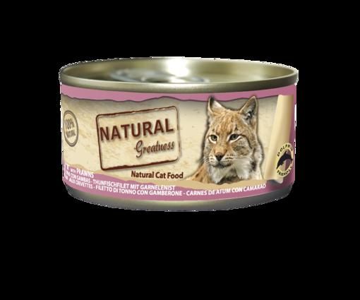 Imagem de NATURAL GREATNESS | Wetfood Cat Tuna Filet & Prawns 70 g