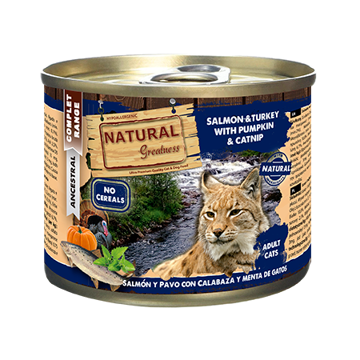 Imagem de NATURAL GREATNESS | Wetfood Cat - Salmon, Turkey, Pumpkin & Mint 200 g