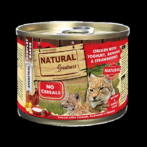 Imagem de NATURAL GREATNESS   Wetfood Cat - Chicken & Yogurt with Banana & Strawberry 200 g