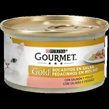 Imagem de GOURMET GOLD | Pedacinhos em Molho Salmão e Frango