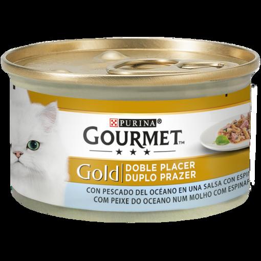 Imagem de GOURMET GOLD   Duplo Prazer Peixe do Oceano com molho de espinafres