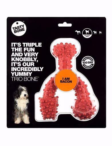 TASTYBONE Trio Bone Toy Bacon