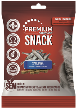 happyOne Premium Snack Gato Sardinha 50g