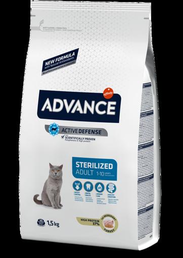 Imagem de ADVANCE Cat   Adult Sterilised Turkey & Barley
