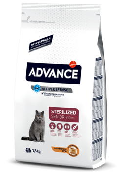 Imagem de ADVANCE Cat | Senior Sterilised Chicken & Barley 1,5 kg