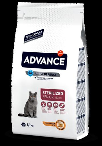 Imagem de ADVANCE Cat   Senior Sterilised Chicken & Barley 1,5 kg