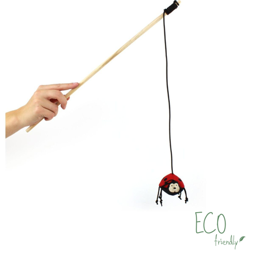 Imagem de BECO PETS | Catnip Wand Ladybird Toy