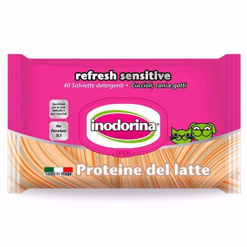 Imagem de INODORINA | Toalhetes Refresh Sensitive Proteína de Leite, 40 Toalhetes