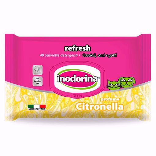 Imagem de INODORINA   Toalhetes Refresh Citronella, 40 Toalhetes