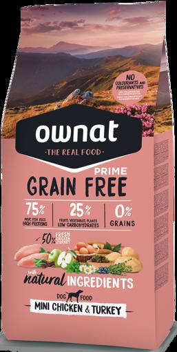 Imagem de OWNAT Cão   Prime Grain Free Mini Chicken & Turkey