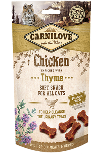 Imagem de CARNILOVE Cat | Soft Snack Chicken & Thyme 50 g