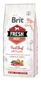 Imagem de BRIT Fresh | Beef With Pumpkin Puppy Large Bones & Joints 12 kg