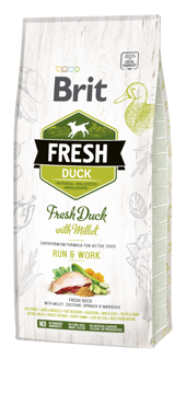 Imagem de BRIT Fresh | Duck With Millet Adult Run & Work 12 kg