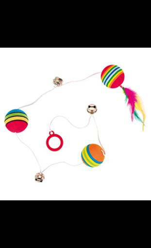 Imagem de TRIXIE |  Rainbow Balls on an Elastic Band (3 unidades)